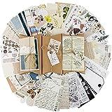 BETESSIN 90pz Diario Stickers Adesivi Vintage per Scrapbooking Autoadesivi Adesivi Decorativi per Album Libri Fai da Te
