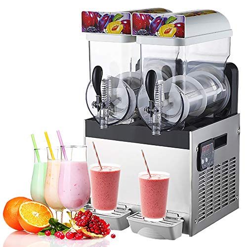 Máquina para hacer granizados comercial,Bebida congelada Máquina para hacer granizados de cono de nieve, Batidora de acero inoxidable Máquina para hacer helado congelado para hacer jugo de hielo, té