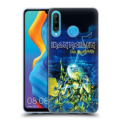 Head Hülle Designs Offiziell Offizielle Iron Maiden Live After Death Tour Soft Gel Handyhülle Hülle kompatibel mit Huawei P30 Lite/Nova 4e