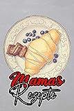 Mamas rezepte: Kochbuch selbst schreiben für 107 fabelhafte Lieblingsrezepte I Softcover I Vintage Schiefer