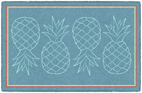 "Brumlow MILLS Dusty Blue Pineapple Fruit Home Decor Kitchen Area Rug, Non Slip Entryway Rug, 2'6"" x 3'10"" Dusty Blue (LW10083-30x46)"