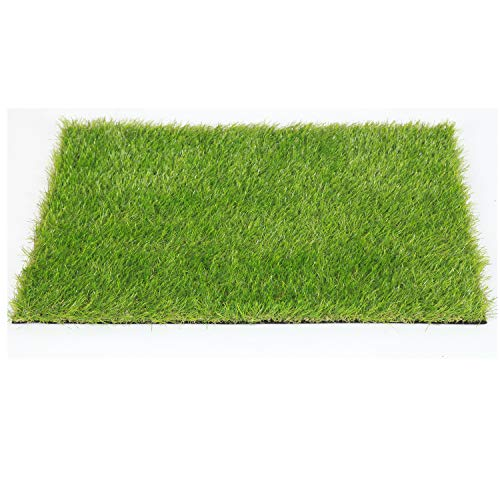 SUMC Hierba artificial Alfombra sintética Entrada de hierba Estera de bienvenida Alfombras falsas Rollo de hierba Alfombras de césped verde para jardín de perros (60 cm x 45 cm)