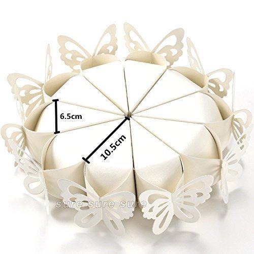 100x conos para arroz Mariposas perlado pétalos cajas peladillas bomboneras boda