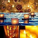 Led Teelicht Led Kerze, Adoric 12 x Led flammenlose Kerzen led Teelicht mit Timer elektrische flackernde batteriebetriebene Kerzen für Halloween Weihnachtsdeko Party Hochzeit, warm weiß - 6
