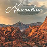 """Nevada 2022 Calendar: 12-month Calendar - Square Small Gorgeous Calendar 8.5x8.5"""" for planners with large grid for note"""
