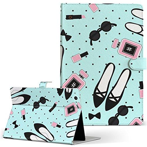 igcase KYT33 Qua tab QZ10 キュアタブ quatabqz10 手帳型 タブレットケース カバー レザー フリップ ダイアリー 二つ折り 革 直接貼り付けタイプ 012578 くつ おしゃれ サングラス