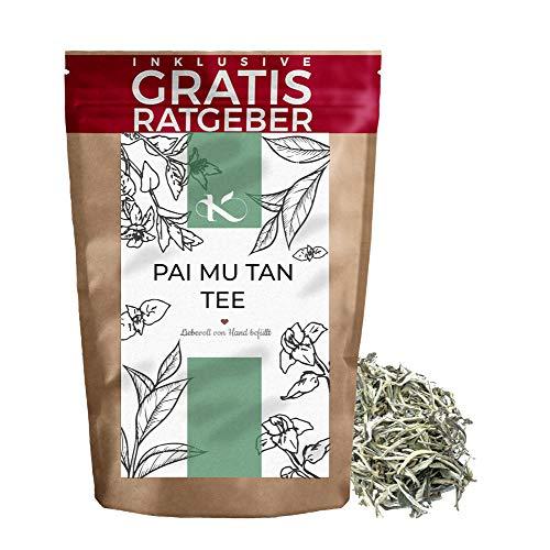 Pai Mu Tan Weißer Tee 250g I Premium weisser Tee Bai-Mudan I hochwertiger natürlicher loser Tee I Krautberger Tee ohne Zusätze I inkl. gratis Ratgeber