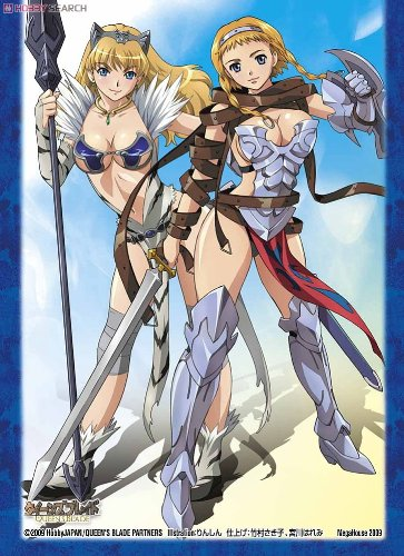 Queens Blade Chara Sleeve P-1 Leina & Elina (Anime Toy)