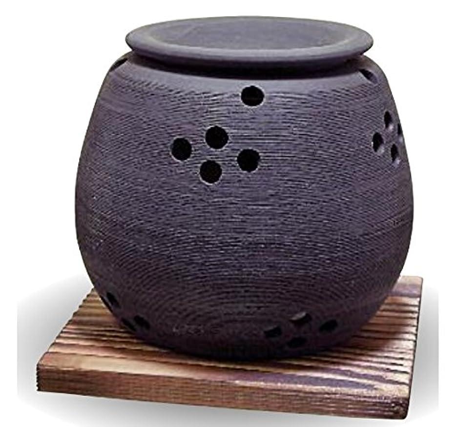 シマウマ高度確かな常滑焼 茶香炉(アロマポット)径10×高さ9cm