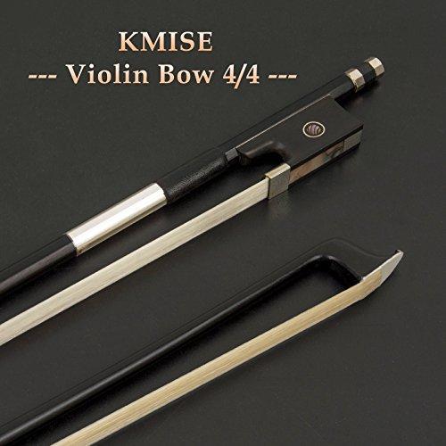 Violin Bow Stunning Bow Carbon Fiber for Violins (4/4, Black)