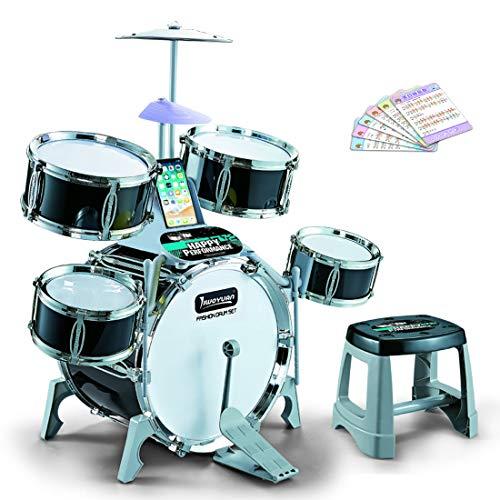 Teakpeak Schlagzeug Kinder Elektronisch, Kinder Schlagzeug Spielzeug Kinderschlagzeug ab 3 Jahre