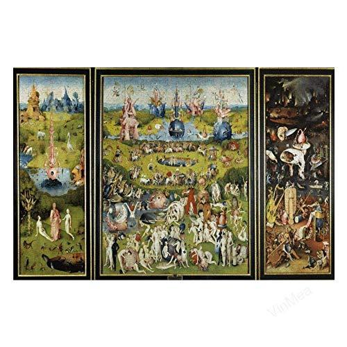 TTbaoz El jardín de Las delicias, Rompecabezas de 1000 Piezas para niños, Adultos y Familiares, Papel de 38 * 26 cm