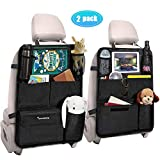 Tsumbay Car Backseat Organizer with Touch Screen Tablet Holder + 6 Storage Pockets