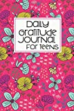 pink covered daily gratitude journal with florals
