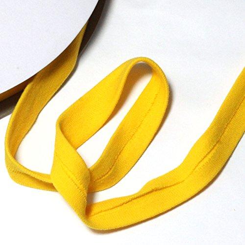 Algodón de jersey de cinta al bies – 20 mm – Amarillo: Amazon.es: Hogar