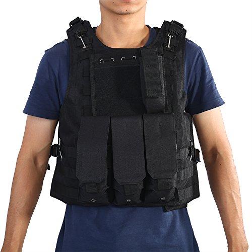 Tactical vest voor heren, ademend inzetvest voor heren, militaire vechtmiddelvest voor CS Airsoft, paintball, jadg, schieten