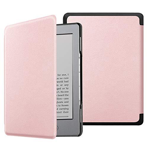 Fintie Hülle kompatibel für Kindle 5 (5. Generation 2012 Modell) / Kindle 4.Generation - Die dünnste und leichteste Schutzhülle mit Magnetverschluss, Roségold