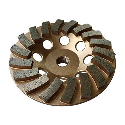 Grinding Wheels for Concrete and Masonry 4.5' Diameter 18 Turbo Diamond Segments 5/8'-11 Arbor