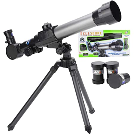 Telescopio para principiantes de astronomía para niños 60 mm HD astronómico refractor telescopio con trípode, prismáticos para adultos gran regalo de astronomía