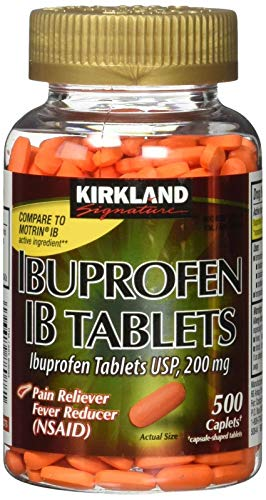 Kirkland Signature Ibuprofen IB 200 mg, 1 Bottle, 500 Count Tablets