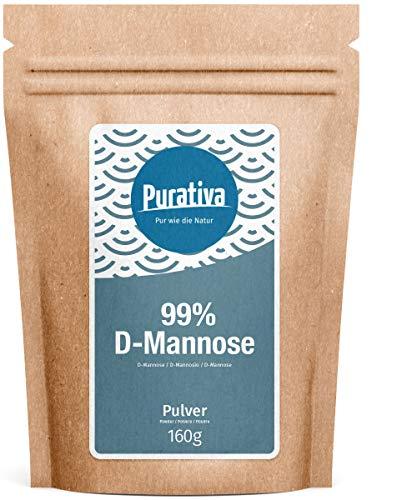 D-mannose poeder - 160 g - veganistisch, natuurlijk - allergievrij - non-GMO - vacuüm in Duitsland