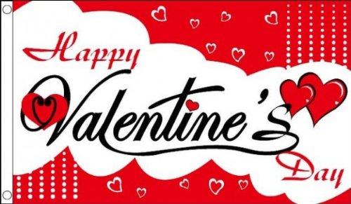 AZ FLAG Drapeau Joyeuse Saint Valentin 150x90cm - Drapeau Happy Valentine's 90 x 150 cm - Drapeaux