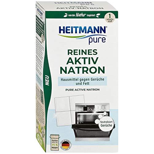 HEITMANN pure Reines Aktiv-Natron: Ökologisches Putzmittel aus Soda und Natrium, Reinigung für Haushalt, Küche und Wäsche, 1x 350g