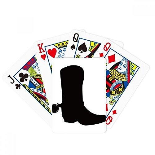 Vrouwen zwarte hoge laarzen overzicht patroon poker spelen magische kaart leuk bordspel
