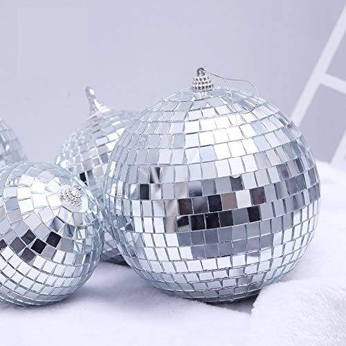 QWLHZW 2-60cm Espejo Bola Disco Bar KVT Adornos de Bolas de Navidad, 2021 Decoraciones de Navidad for el árbol de Navidad casera, galvanoplastia, Brillantes y Hermosas, decoración Efecto Ideal Decor