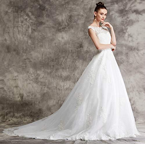 Brautkleid mit Spitze und Mieder - 4