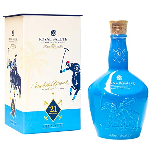 Chivas Brothers Royal Salute 21 Years Old THE BEACH POLO EDITION Blended Scotch Whisky 40% Volume 0,7l in Geschenkbox Whisky