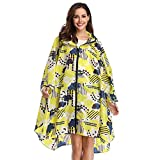 Summer Mae Chubasqueros Mujer Impermeable Reutilizable Poncho Impermeables Chaquetas Capa Lluvia Nieve para Mujer Amarillo Nube