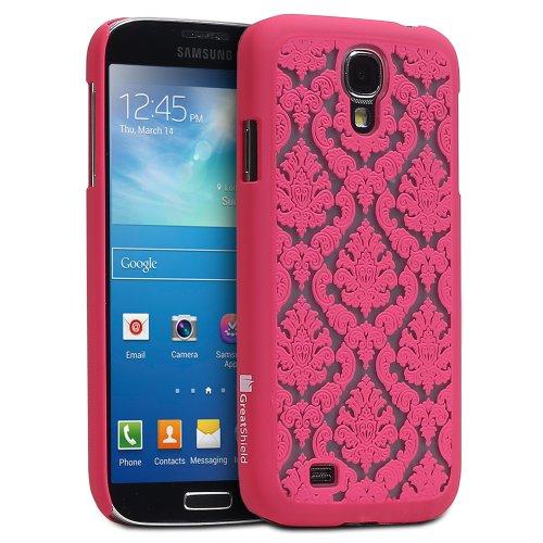 GreatShield(TM - Cover Posteriore di Gomma Dura Ultra Sottile per Samsung Galaxy S4 IV I9500, Motivo Damascato