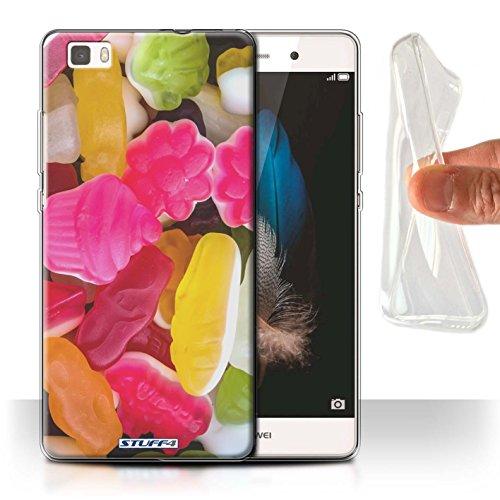 Stuff4 Gel TPU Hülle / Hülle für Huawei P8 Lite / Marshmallow/Gelee Muster / Süßwaren Kollektion