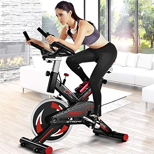 Yingm Bicicletta da Spinning per Fitness Indoor Cyclette casa Ultra-Silenzioso Indoor Sports Attrezzature Fitness Regolabile Cyclette Professionale Continua a Muoverti