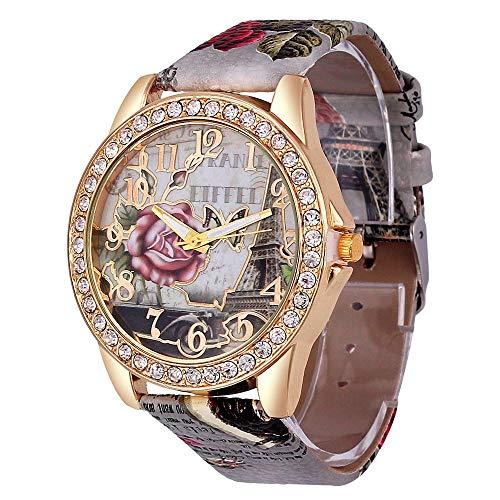 Orologio da donna in pelle neutra Ginevra Orologio da uomo Orologio dadonna Lady Orologio da polso Orologio Geneva Relojes MujerGrigio