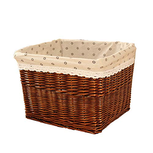 TRD Storage Basket Wicker grote wasmand rotan ruimte opbergmand in huis speelgoed kleine dingen opbergmand