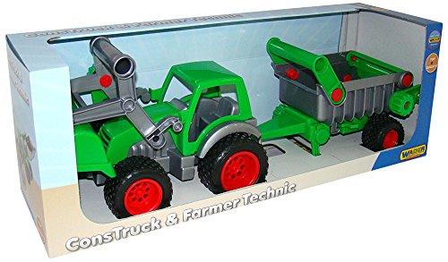 MM Spezial Wader Farmer Technic Traktor mit Frontlader und An