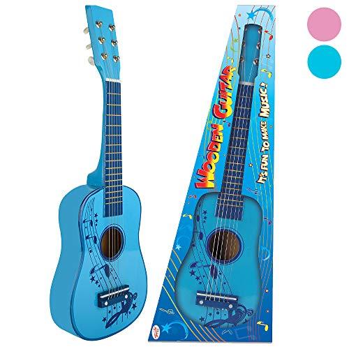 Toyrific - Chitarra in Legno, da 58 cm, Blu