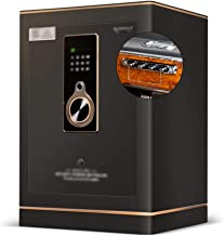 Wall Safes Single-Open Home Anti-Theft Fingerprint Safe Office File Cabinet for Jewelry, for Home Office Hotel Built-in Al...