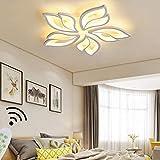 Lámpara LED de techo para salón regulable para comedor dormitorio decoración lámpara de techo con mando a distancia diseño moderno de flores lámpara de techo salón acrílico lámpara de pasillo
