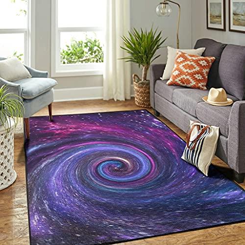 Veryday Universe Galaxie - Alfombra moderna para el salón o la puerta, para dormitorio o pasillo, color blanco, 50 x 80 cm