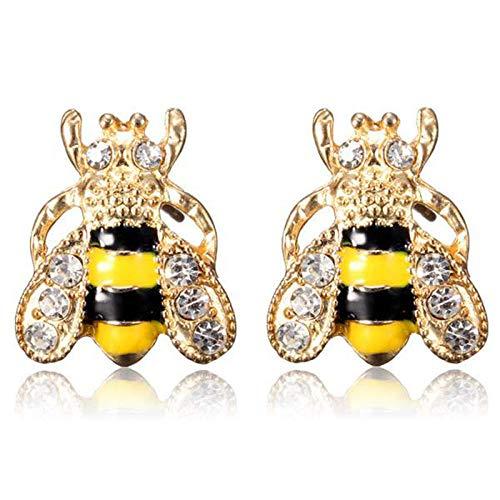 Erin Süße Strass Kristall Insekten Gold Rhabarber Honig Biene Ohrringe Biene Ohrringe Frauen Mädchen Piercing Schmuck