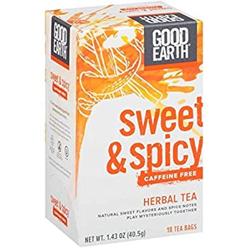 Good Earth Sweet & Spicy Caffeine Free Herbal Tea 18 Tea Bags