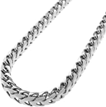 9.9Ft 2041-C with 6 Lobster Clasps+18 Jump Rings Links Cable Square Rolo Craft Chain DIY Findings Stainless Steel Box Chains Set for Chains Necklace Jewelry Making Wide 3.0mm 3m