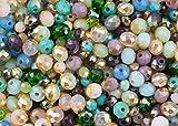 Set Sea Dream di 400perline: turchese, blu, verde, viola e rosa, per la creazione di gioielli, in cristallo