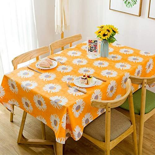 XXDD Blumen Bedruckte Tischdecke, verwendet für rechteckige Tisch wasserdichte Party Hochzeit Tischdekoration Dekoration Kamin Arbeitsplatte A2 150x210cm