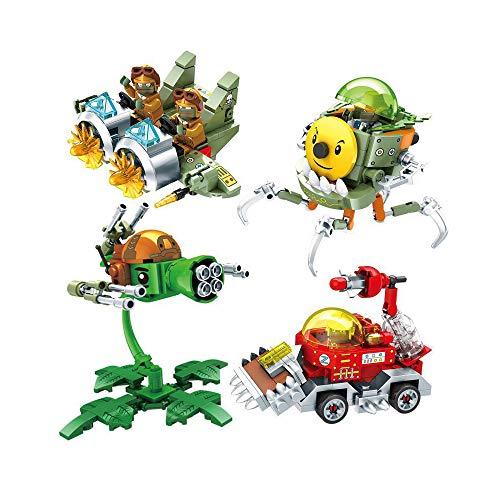 LZQ Plants VS Zombies 2 PVZ Exquisite Exquisite Building Toys Gifts for 6,7,8,9,10 Year Old Kids Parent-Child Interaction (Medium-(4PCS))