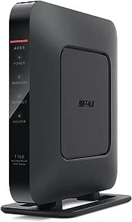 BUFFALO WiFi 無線LAN ルーター WSR-1166DHP3/MBK 11ac ac1200 866+300Mbps デュアルバンド 3LDK 2階建向け 【iPhone8/iPhoneX/iPhoneXS/Amazon Echo メーカー動作確認済み】