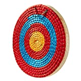 TOPARCHERY Archery Target 3 Layers 20 inch Traditional Solid Straw Archery Target 2.3 inch Thickness Hand-Made Arrows Target for Outdoor Shooting Practice (20in / 3 Layers)